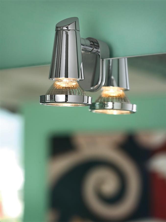 leuchte lampe badlampe spiegelleuchte spiegellampe chrom. Black Bedroom Furniture Sets. Home Design Ideas