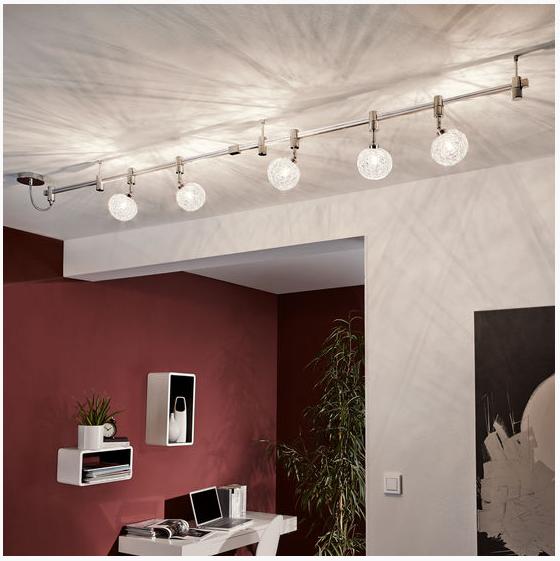 neu deckenleuchte deckenlampe g9 schiene alu chrom 2 meter 93361 ebay. Black Bedroom Furniture Sets. Home Design Ideas
