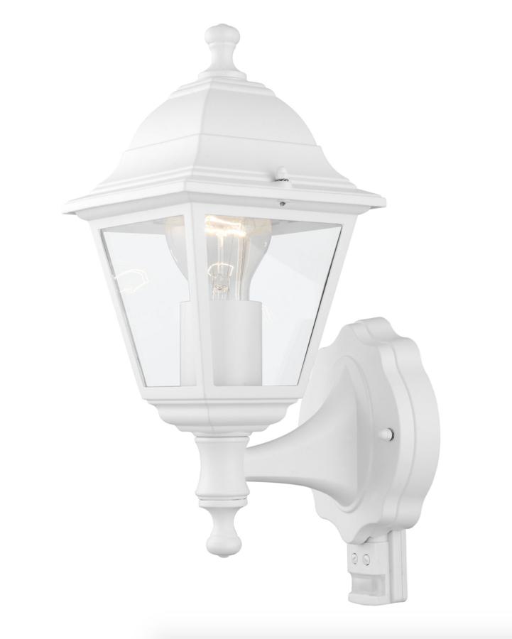 aussenleuchte mit bewegungsmelder aussenlampe wei eglo 31347 aussenbeleuchtung aussenleuchten. Black Bedroom Furniture Sets. Home Design Ideas