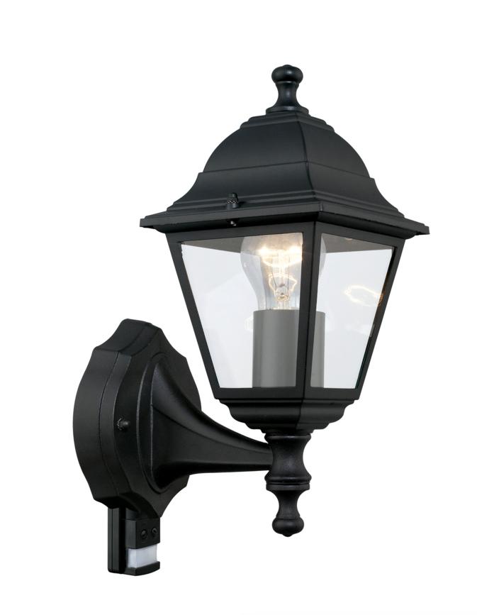 aussenleuchte mit bewegungsmelder aussenlampe schwarz eglo. Black Bedroom Furniture Sets. Home Design Ideas