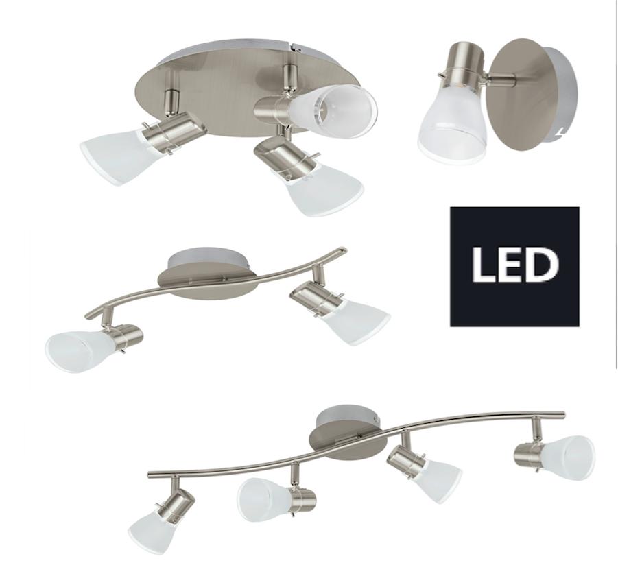 Neu led deckenleuchte deckenlampe glas nickel matt eglo 1 for Deckenleuchte deckenlampe