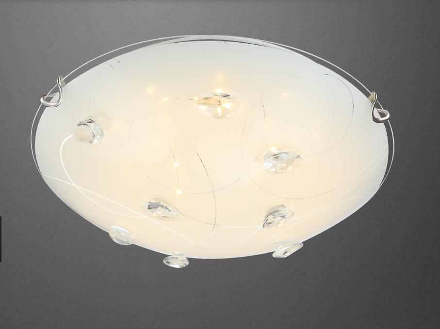 neu led 40427 deckenlampe decken lampe kristall flur bad leuchte glas wohnraumleuchten wand und. Black Bedroom Furniture Sets. Home Design Ideas