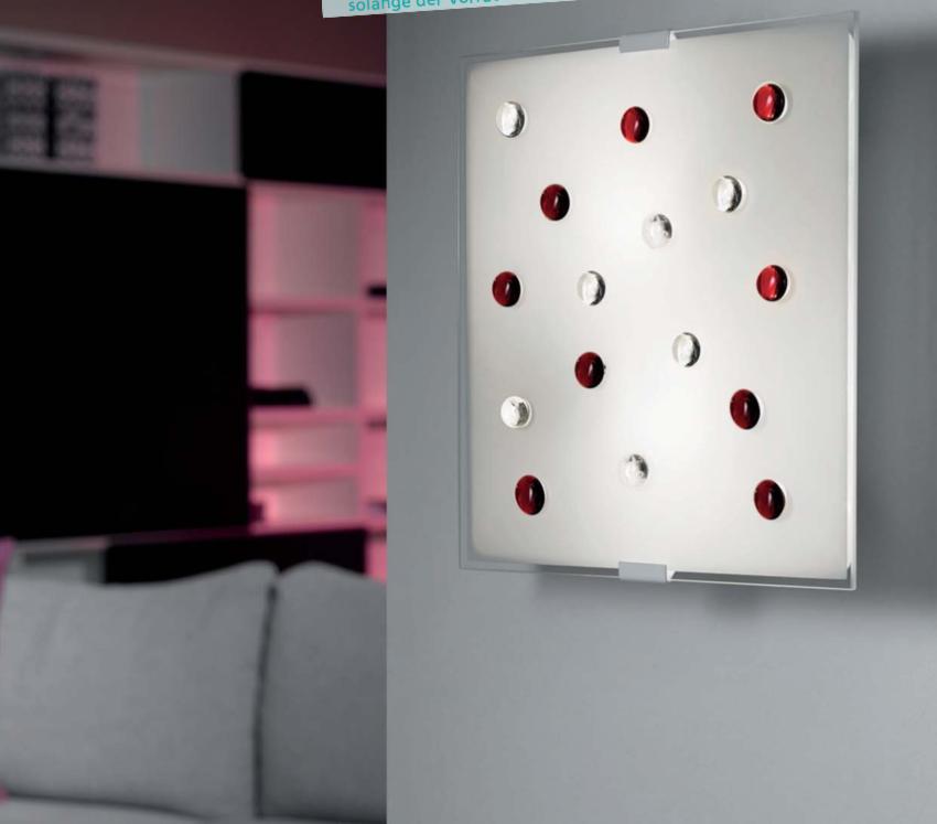 led deckenleuchte glasleuchte glassteine klar rot eglo 93418 ebay. Black Bedroom Furniture Sets. Home Design Ideas
