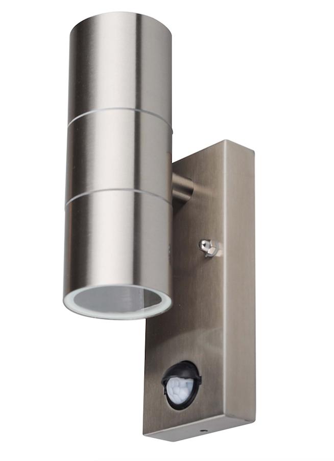 Schön 2er Set LED Up & Down Aussenleuchte mit Bewegungsmelder Edelstahl  XQ66